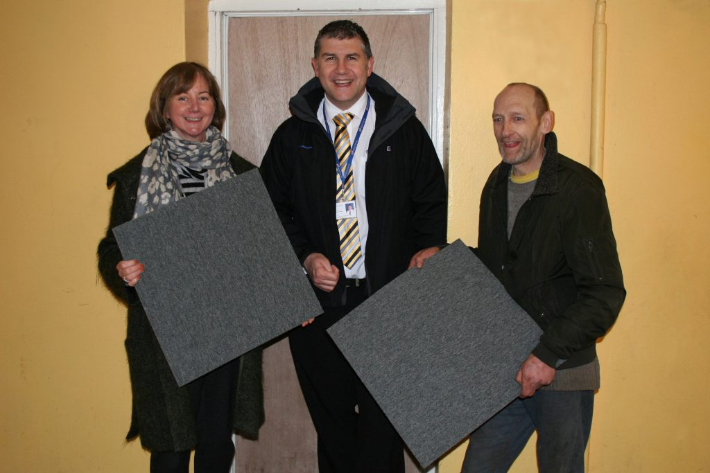 Melville Housing Association, carpet tiles, General and Technical Systems, reuse