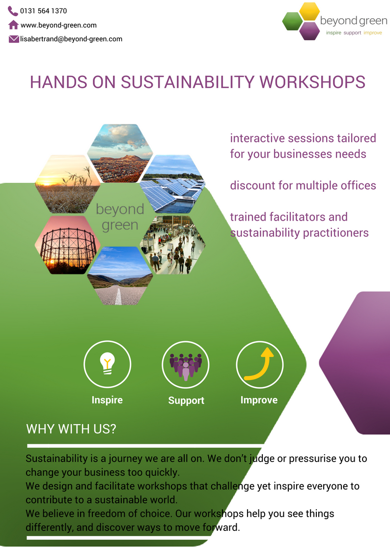 Hands on sustainability workshops package