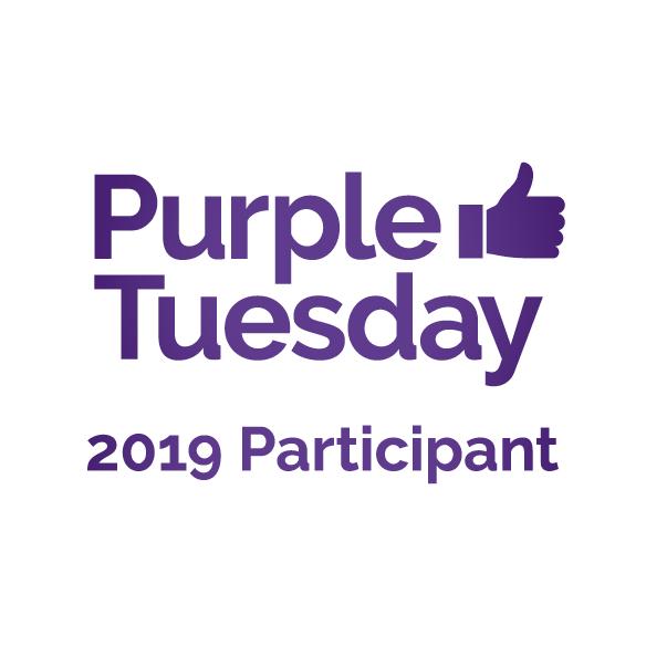 Purple Text reading 'Purple Tuesday 2019 participant'