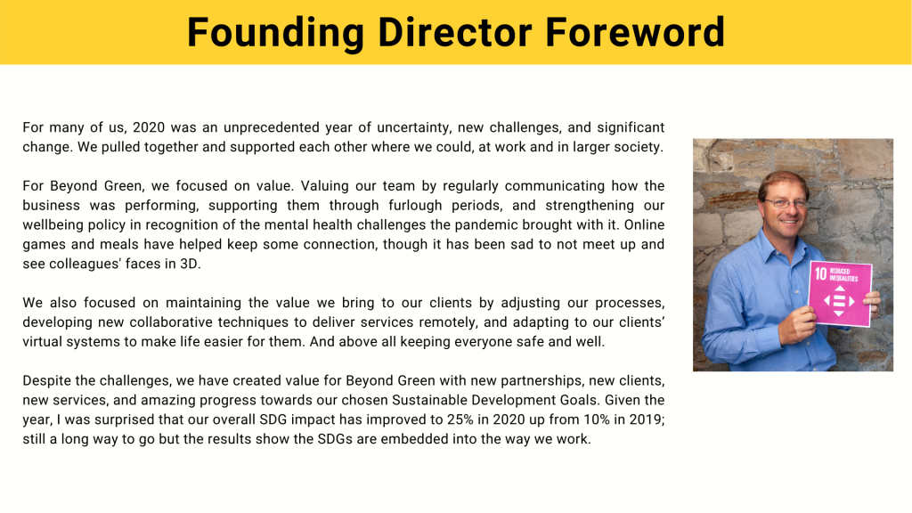 Founding Director Foreword
